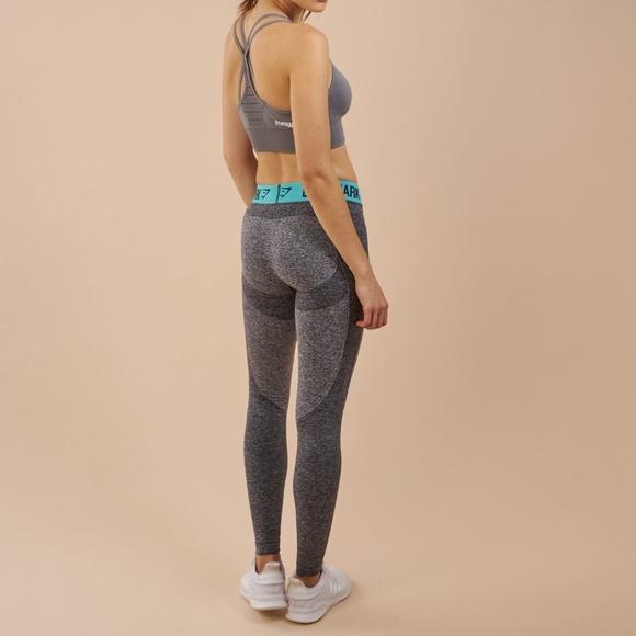 1732d718100a2 GYMSHARK Pants | Flex Leggings Charcoal Marlpale Turquois | Poshmark